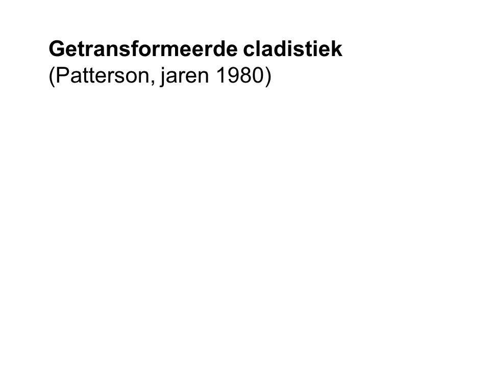 Getransformeerde cladistiek (Patterson, jaren 1980)