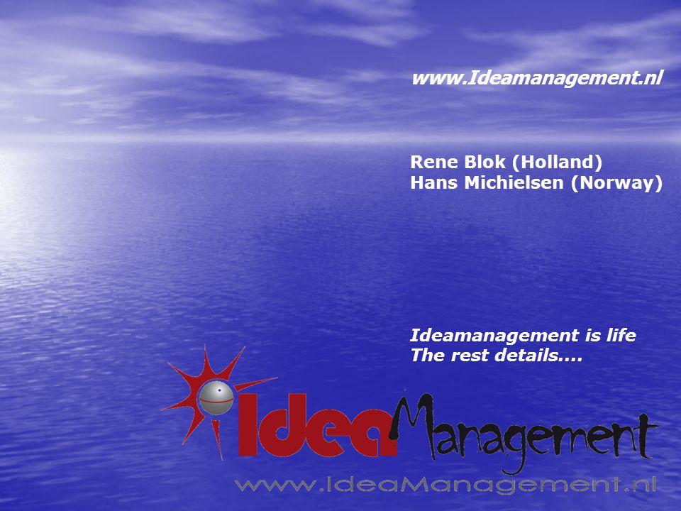 www.Ideamanagement.nl It ain't Much if it ain't Dutch René Blok/Hans Michielsen