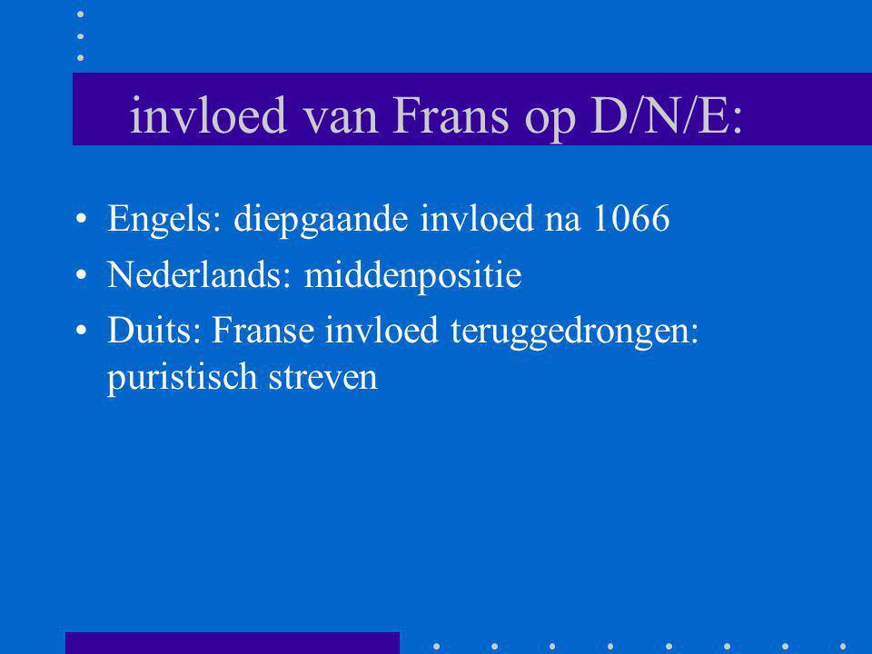 Ndl: permanente ontlening aan het Frans: lexicon: bv.