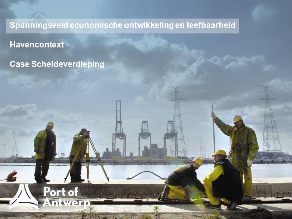 Evolutie van de marktaandelen van Antwerpen, Rotterdam en Hamburg in de Le Havre – Hamburg Range (containers, TEU) Bron: VHC 6m 2009