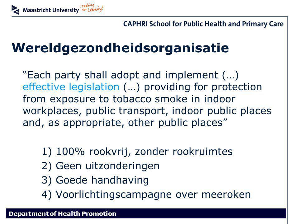 Mijn proefschrift International Tobacco Control Policy Evaluation Project In meer dan 20 landen i.s.m.