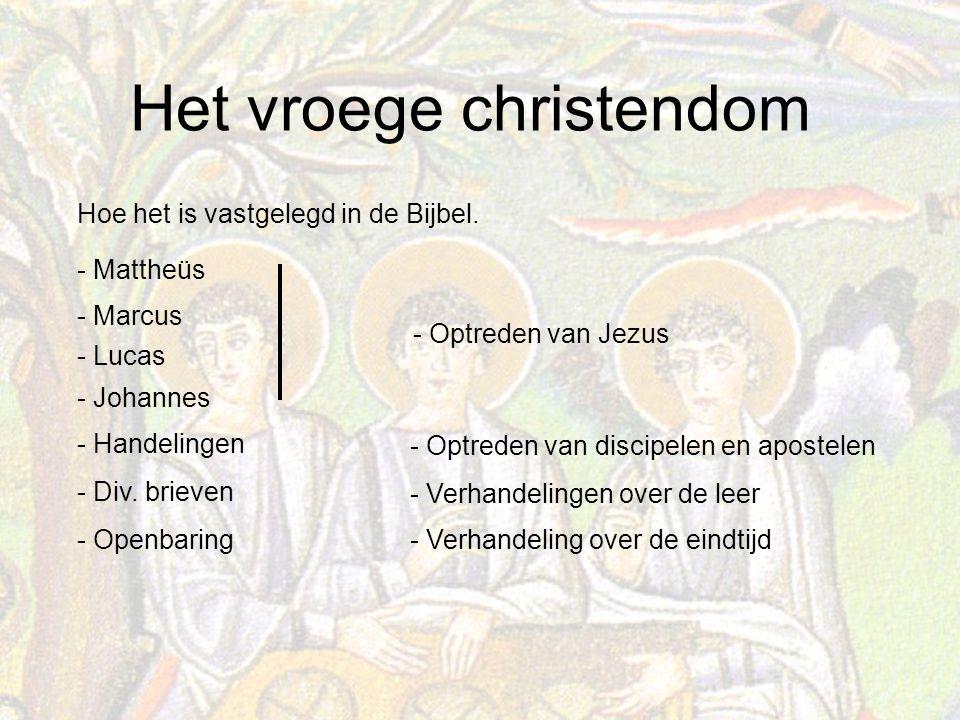 Het vroege christendom Hoe het is vastgelegd in de Bijbel.