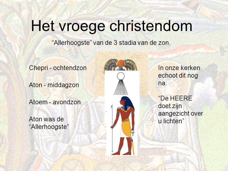 Het vroege christendom Allerhoogste van de 3 stadia van de zon.