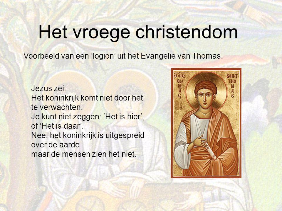 Het vroege christendom Jezus zei: Het koninkrijk komt niet door het te verwachten.