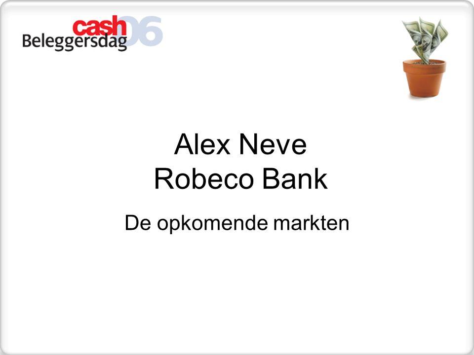 Alex Neve Robeco Bank De opkomende markten