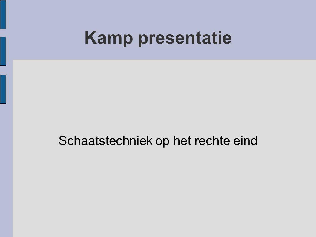Kamp presentatie Schaatstechniek op het rechte eind