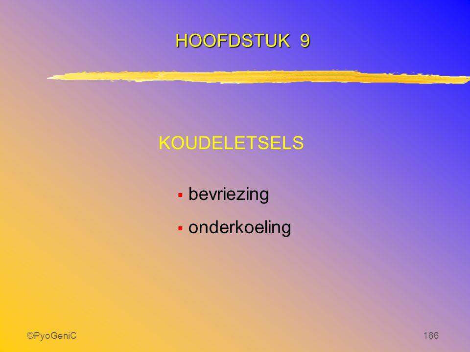 ©PyoGeniC166 KOUDELETSELS  bevriezing  onderkoeling HOOFDSTUK 9