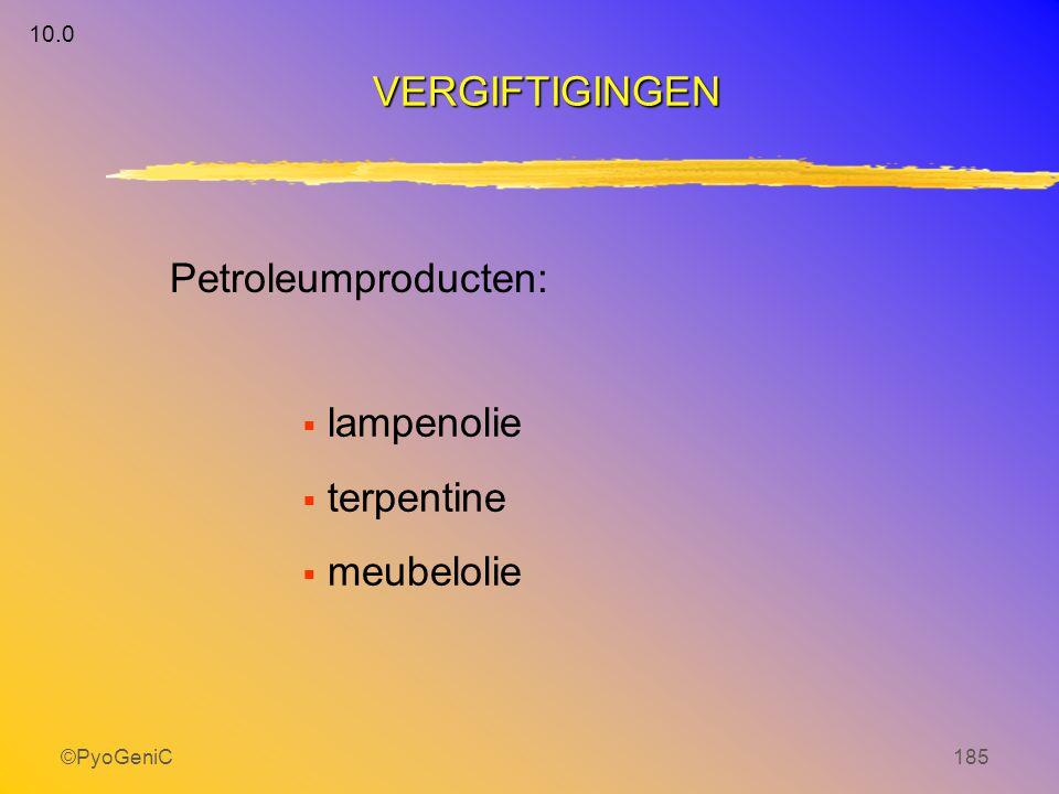 ©PyoGeniC185  lampenolie  terpentine  meubelolie Petroleumproducten: VERGIFTIGINGEN 10.0