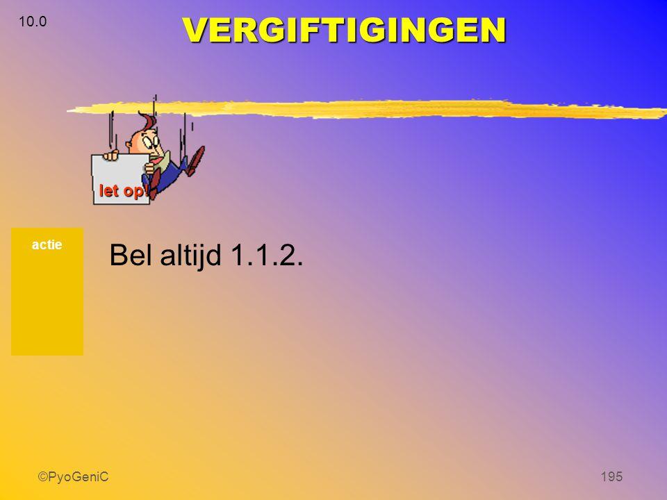 ©PyoGeniC195 actie VERGIFTIGINGEN 10.0 let op! Bel altijd 1.1.2.
