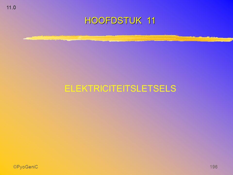 ©PyoGeniC196 ELEKTRICITEITSLETSELS HOOFDSTUK 11 11.0