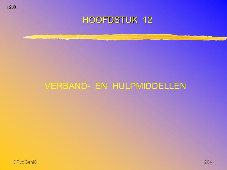 ©PyoGeniC204 VERBAND- EN HULPMIDDELLEN HOOFDSTUK 12 12.0