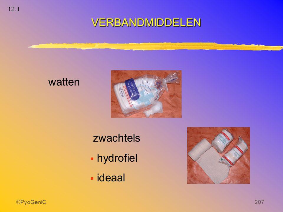 ©PyoGeniC207 watten zwachtels  hydrofiel  ideaal VERBANDMIDDELEN 12.1