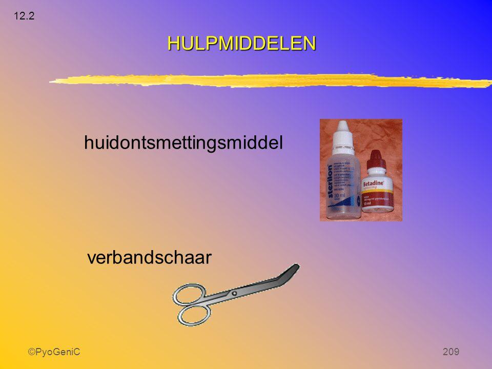 ©PyoGeniC209 huidontsmettingsmiddel verbandschaar HULPMIDDELEN 12.2