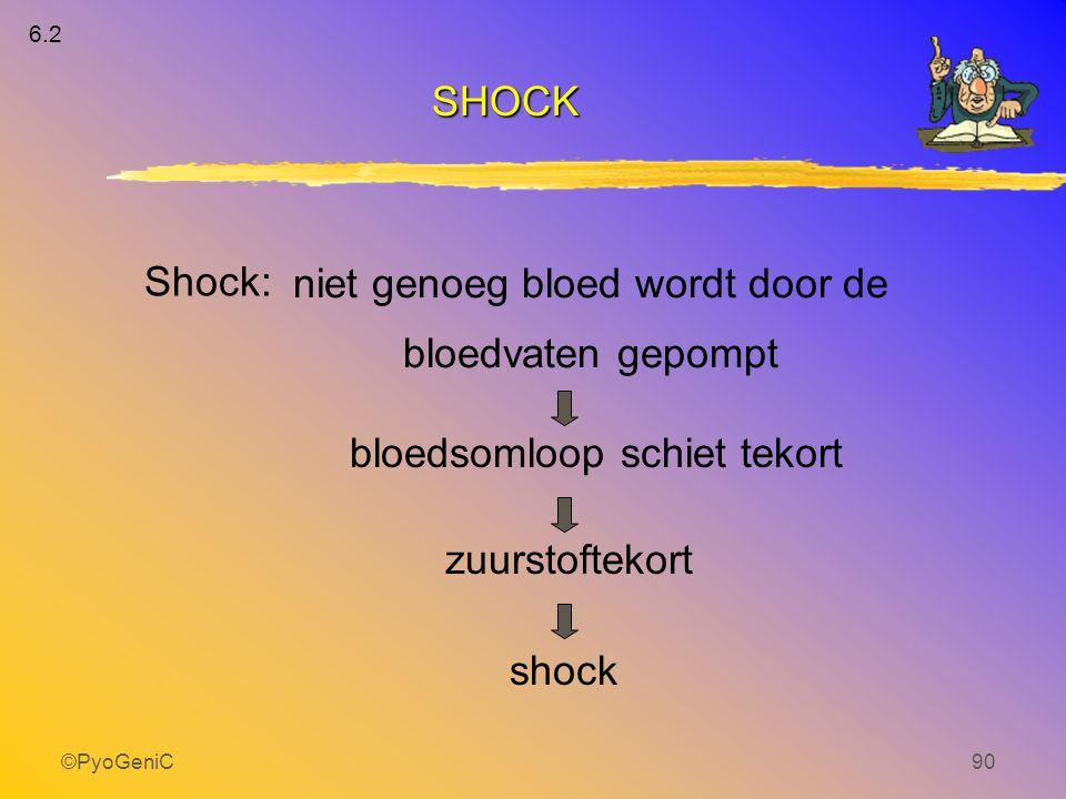 ©PyoGeniC90 bloedsomloop schiet tekort niet genoeg bloed wordt door de bloedvaten gepompt zuurstoftekort shock Shock: 6.2 SHOCK