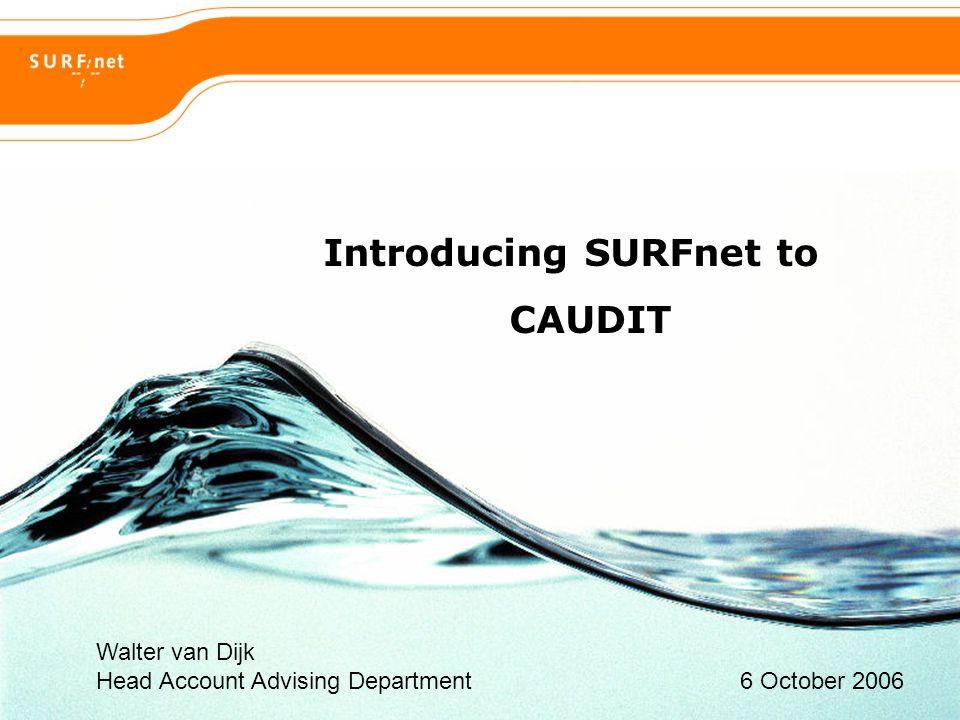 Hoogwaardig internet voor hoger onderwijs en onderzoek 2 Agenda  General introduction to SURFnet - Ambitions - Innovation projects - Service portfolio  Lifecycle- and portfolio-management