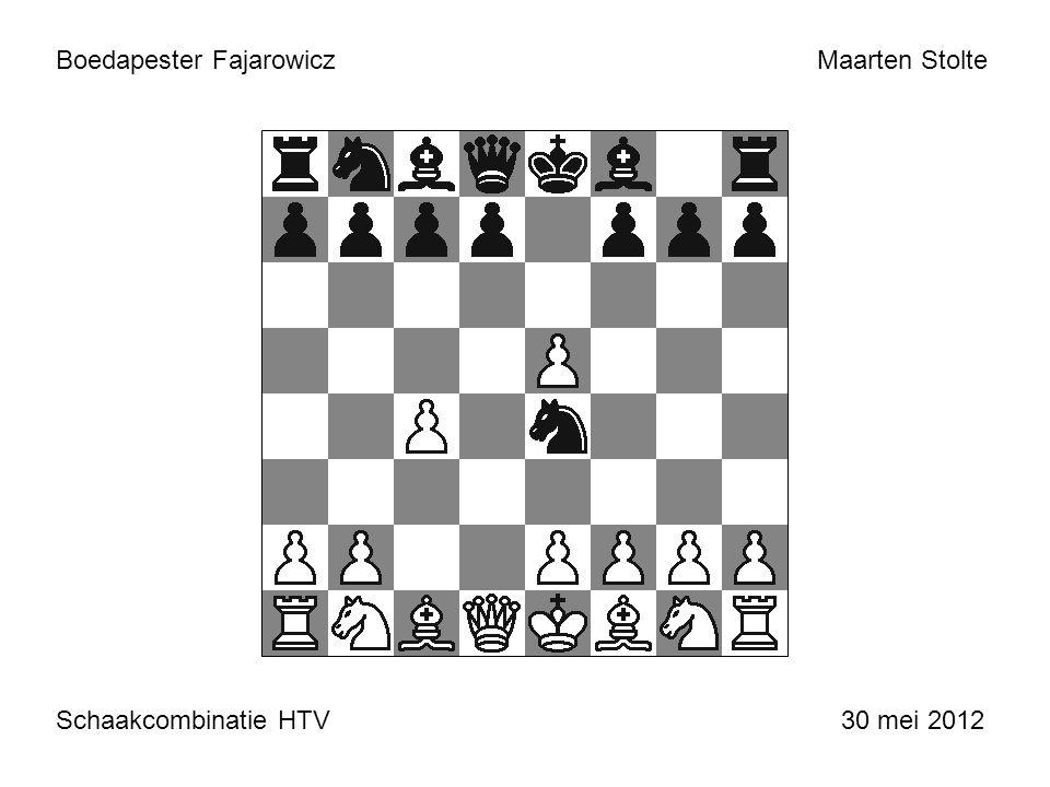Boedapester Fajarowicz Schaakcombinatie HTV 30 mei 2012 Maarten Stolte