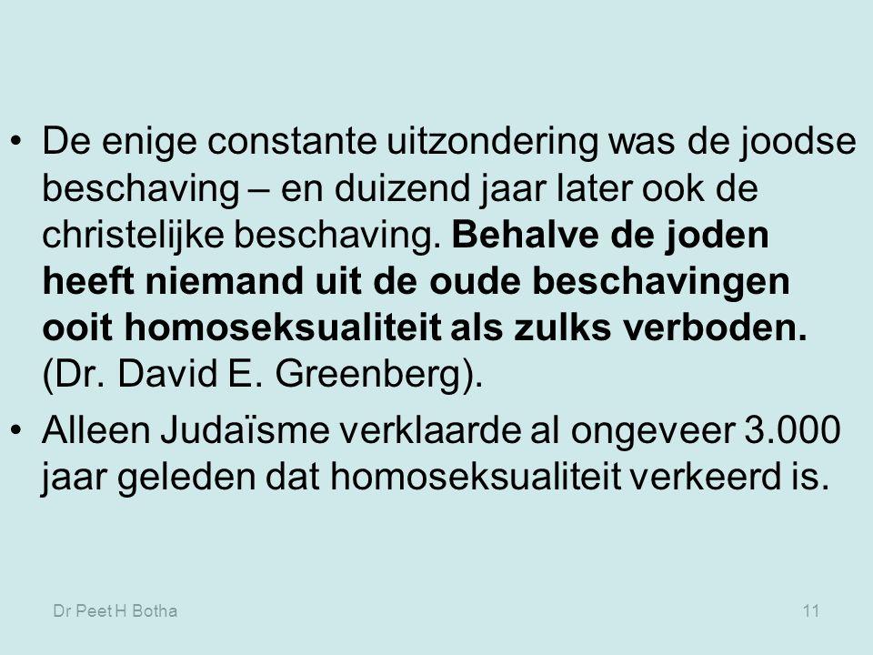 Dr Peet H Botha10 In beginsel werd seks niet gedaan om iets samen te beleven, maar gebeurde omdat je iets voor de ander wilde doen.