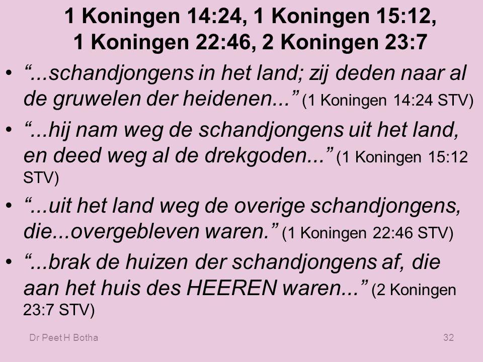Dr Peet H Botha31 Deuteronomium 23:17-18 17.