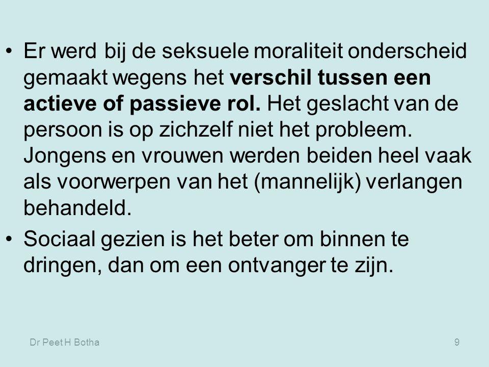 Dr Peet H Botha59 Moulton (1978) definieert: arsenokoítês : iemand die in bed ligt met een man, een sodomiet, een malakós, als een persoon die een instrument is met een onnatuurlijke lust, verwijft.