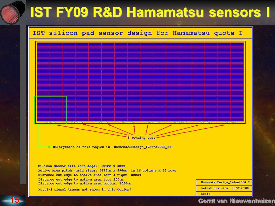15 IST FY09 R&D Hamamatsu sensors I Gerrit van Nieuwenhuizen