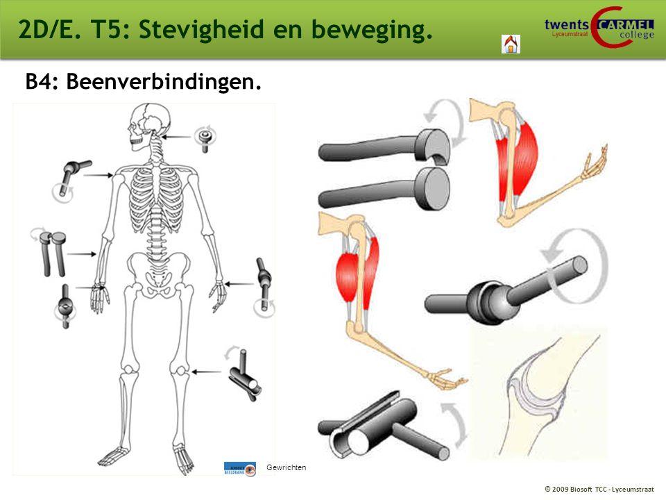 © 2009 Biosoft TCC - Lyceumstraat 2D/E. T5: Stevigheid en beweging. B4: Beenverbindingen. Gewrichten