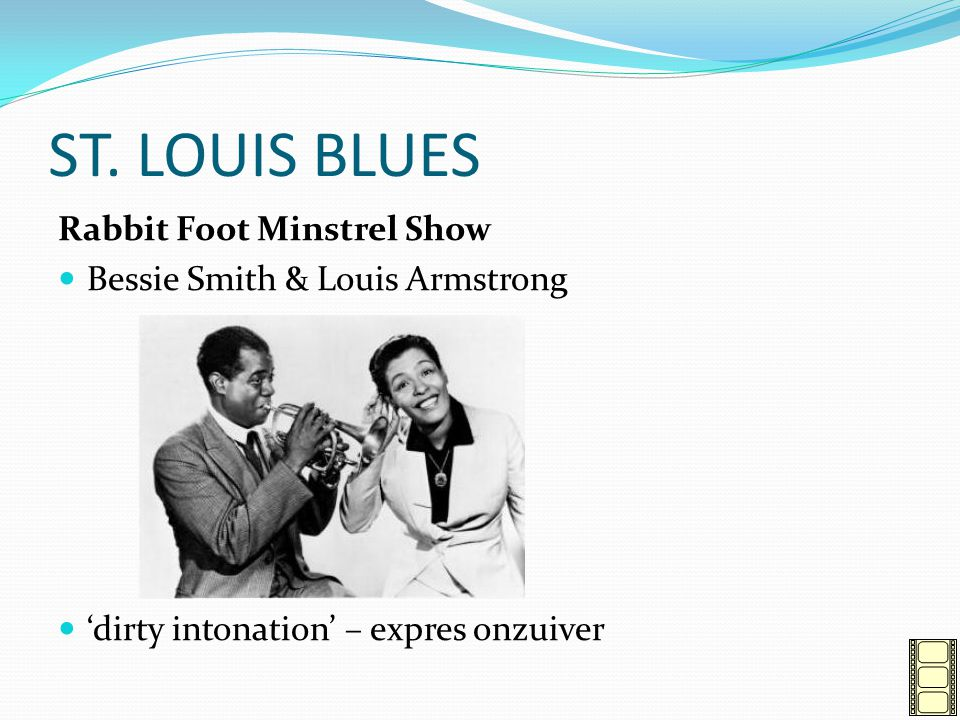 ST. LOUIS BLUES Rabbit Foot Minstrel Show Bessie Smith & Louis Armstrong 'dirty intonation' – expres onzuiver