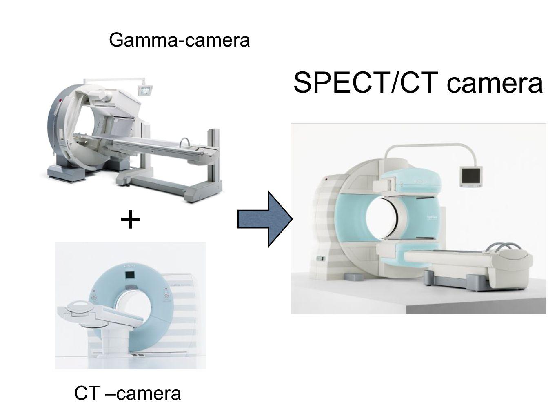 Fusie van beelden: SPECT-CT camera  Complementair: hoge sensitiviteit v.