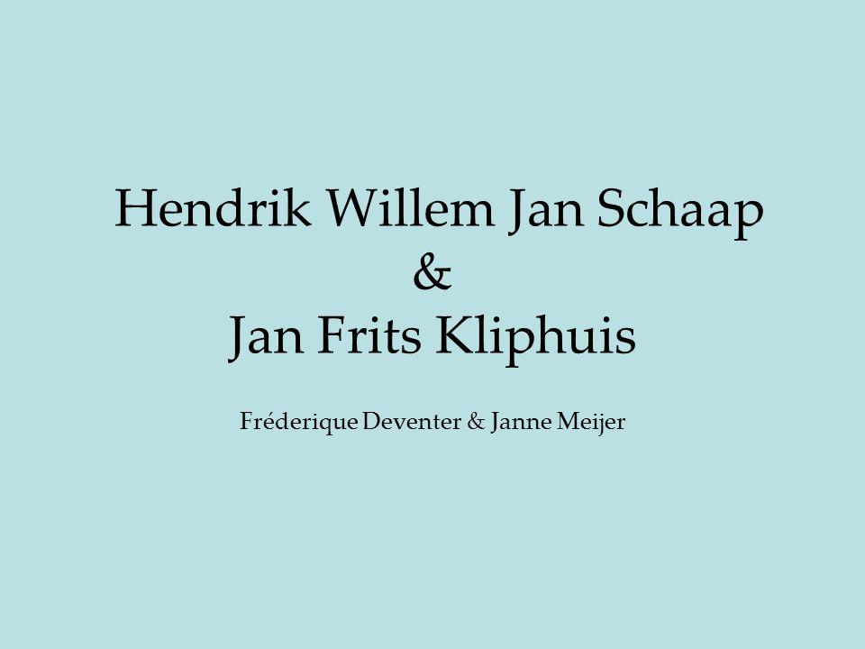 Inleiding -Hoofdvraag Welke positie namen (nemen) H.W.J Schaap en J.F.Kliphuis in binnen het veld? -Analyse & conclusie H.W.J.