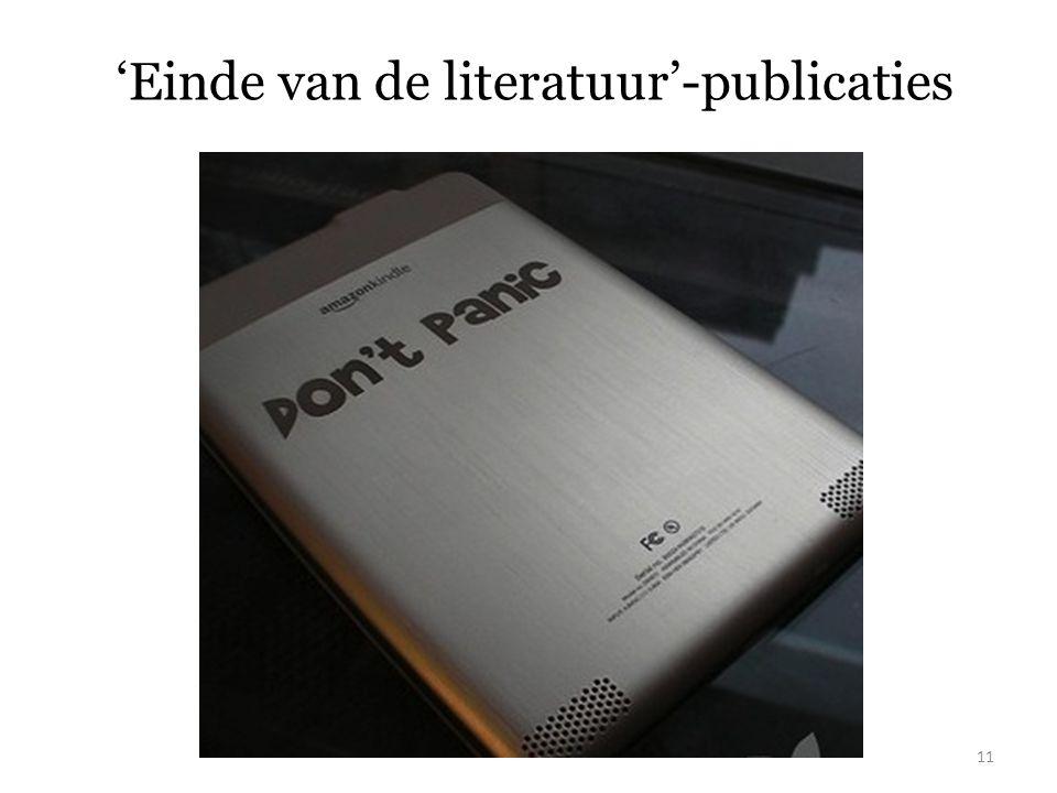 'Einde van de literatuur'-publicaties 11