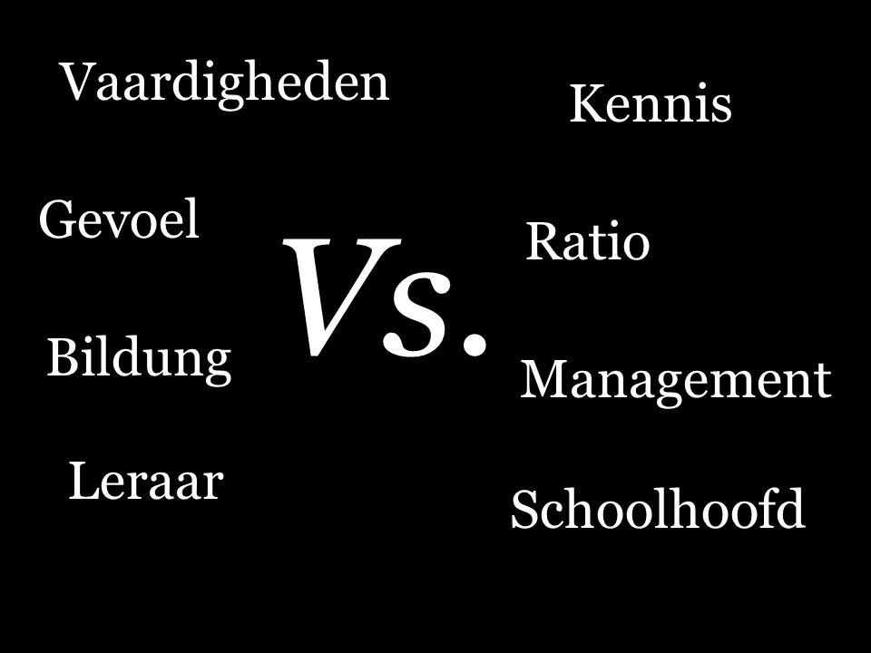 Vaardigheden Management Vs. Leraar Schoolhoofd Bildung Gevoel Kennis Ratio