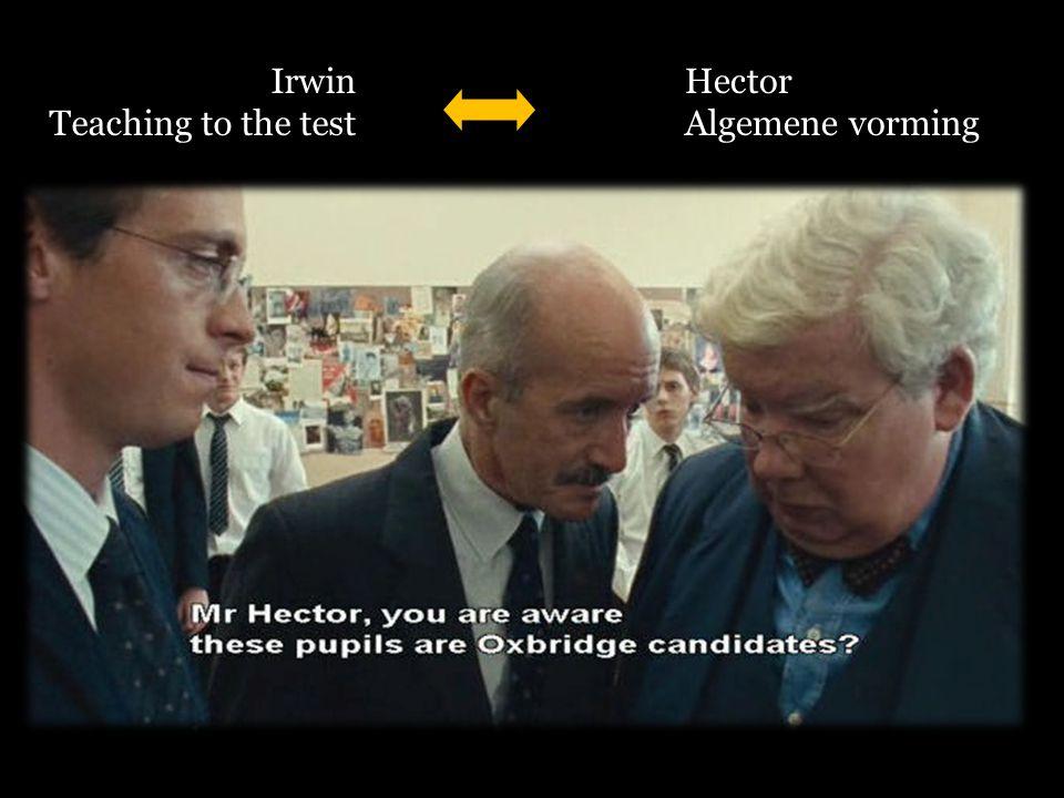 Irwin Teaching to the test Hector Algemene vorming