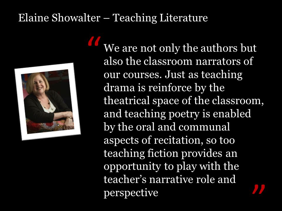 We are not only the authors but also the classroom narrators of our courses.