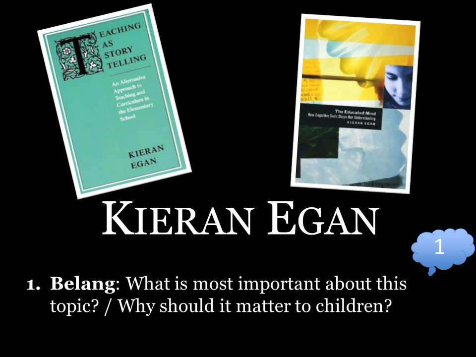 K IERAN E GAN 1.Belang: What is most important about this topic.