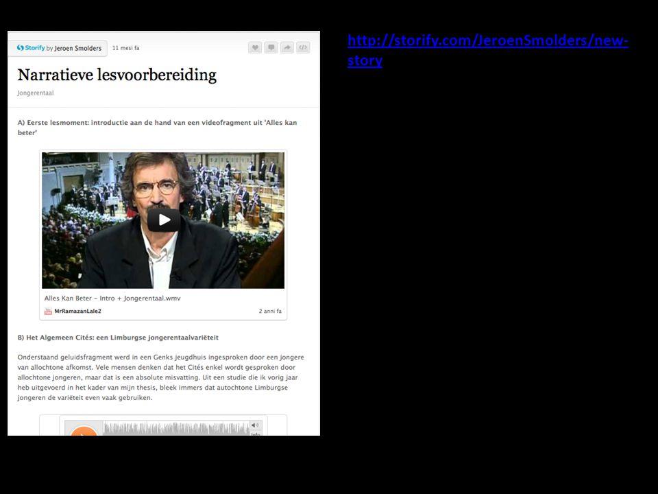 http://storify.com/JeroenSmolders/new- story