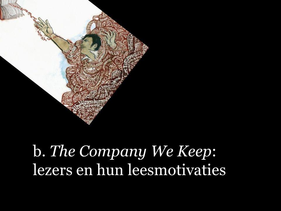 b. The Company We Keep: lezers en hun leesmotivaties
