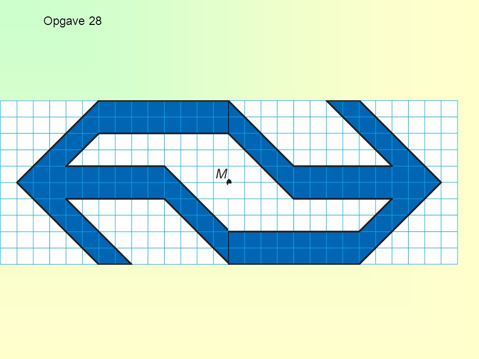Puntsymmetrie Puntsymmetrie is hetzelfde als draaisymmetrie met draaihoek 180º.