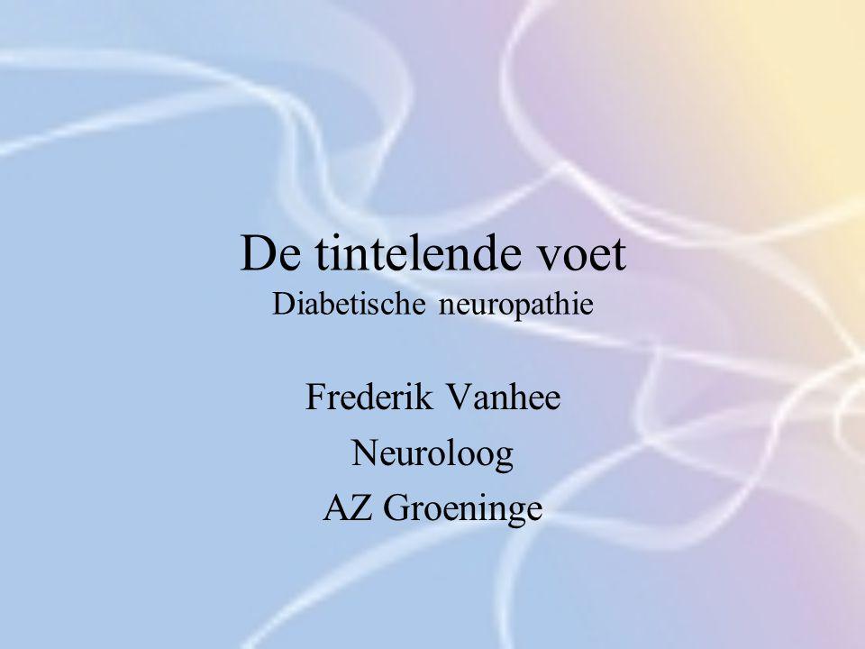Neuropathie bij diabetes Behandeling Neuropathe pijn – medicamenteuze behandeling: 1.Eerste lijn preparaten 2.Tweede lijn preparaten 3.Locale behandelingen