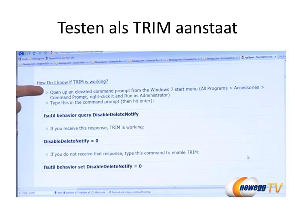 Testen als TRIM aanstaat