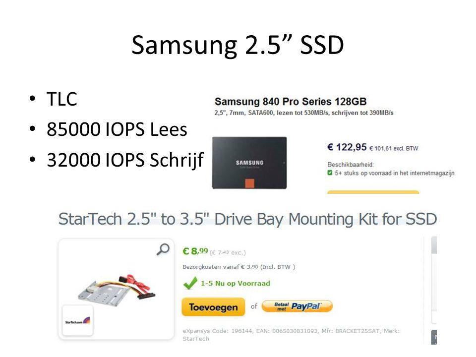 """Samsung 2.5"""" SSD TLC 85000 IOPS Lees 32000 IOPS Schrijf"""