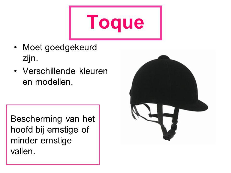Toque Moet goedgekeurd zijn. Verschillende kleuren en modellen. Bescherming van het hoofd bij ernstige of minder ernstige vallen.