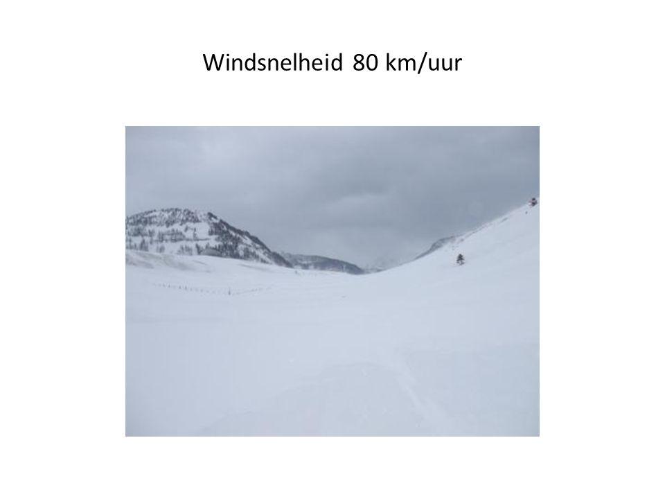 Windsnelheid 80 km/uur