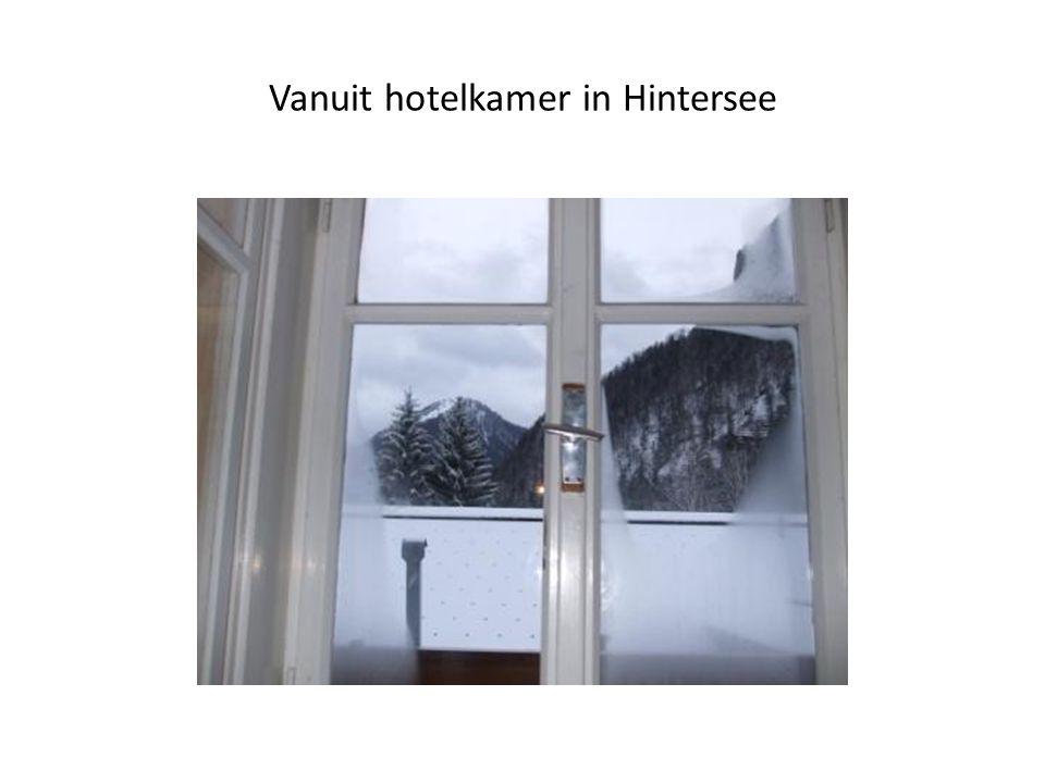 Vanuit hotelkamer in Hintersee