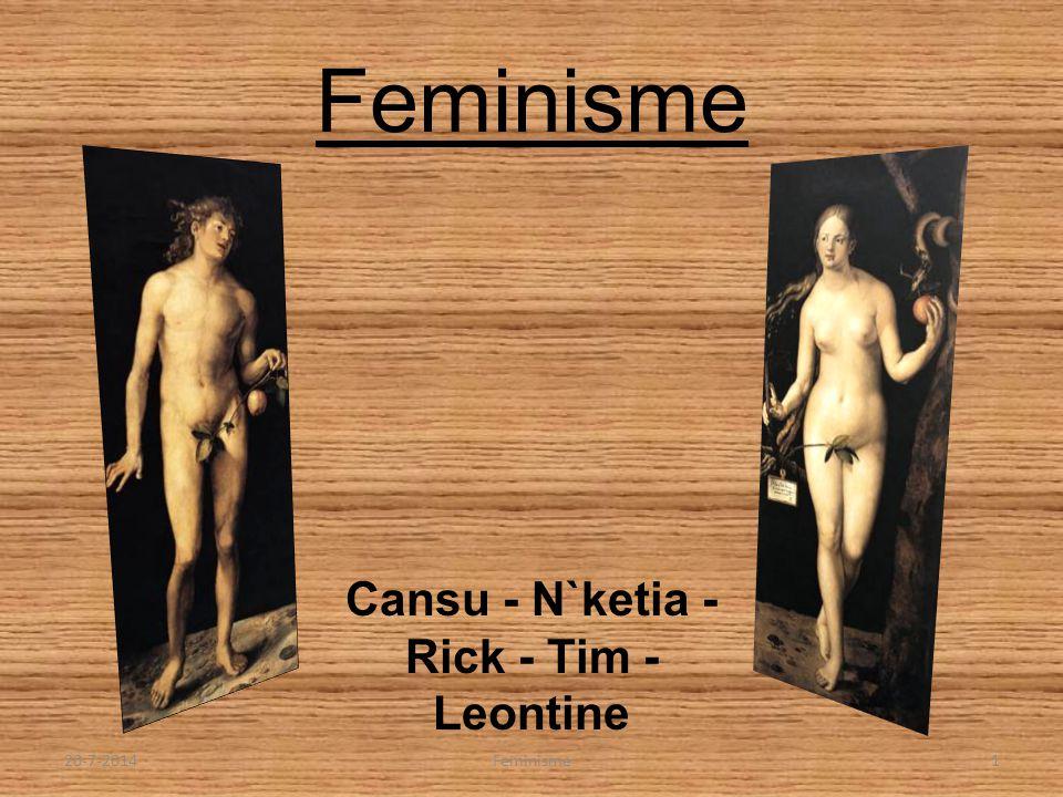 Feminisme Cansu - N`ketia - Rick - Tim - Leontine 20-7-20141Feminisme