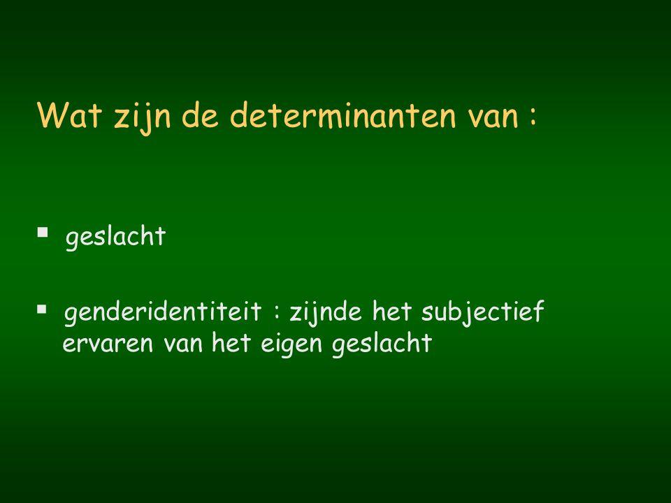 GENDERIDENTITEITSSTOORNIS (1) A.
