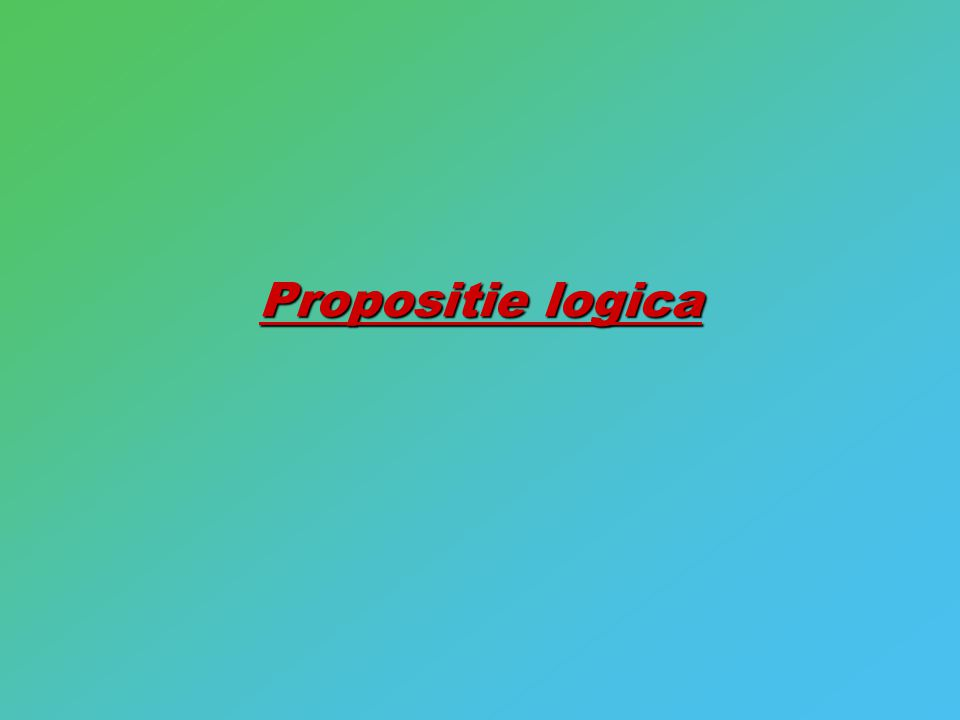 Propositie logica