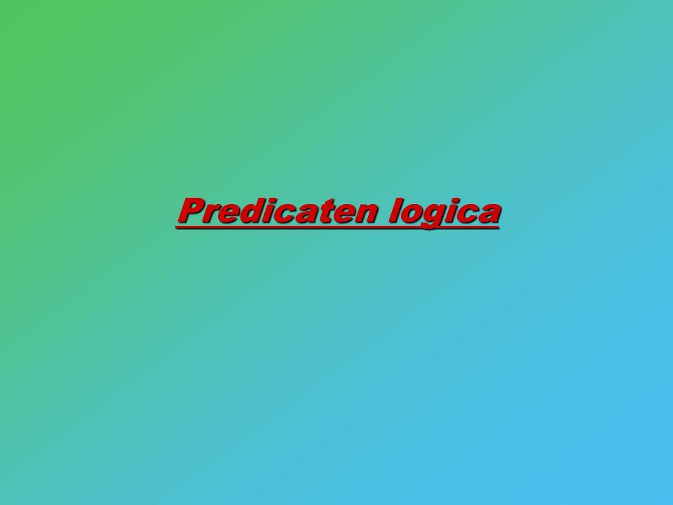 Predicaten logica