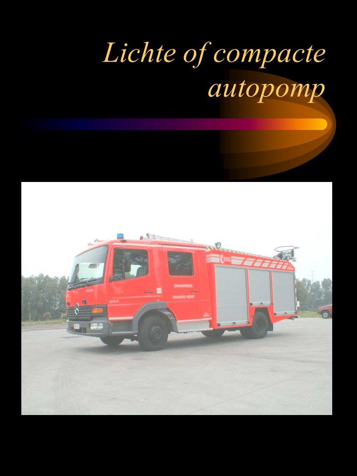Halfzware autopomp TOEPASSING eerstelijnsvoertuig blusvoertuig multifunctioneel redvoertuig Standaard uitgerust met basismaterieel