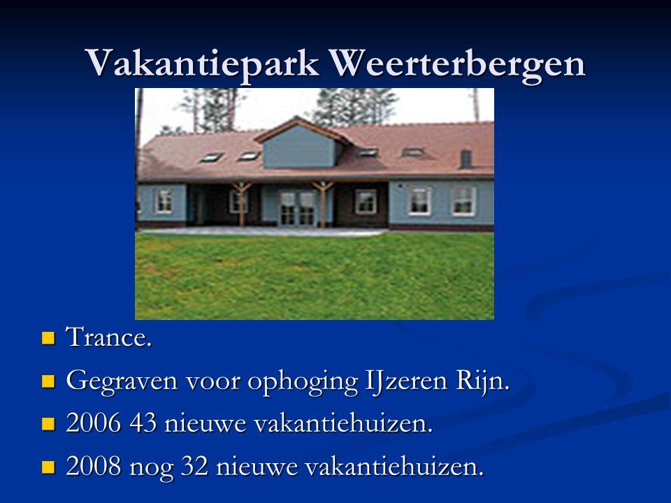 Vakantiepark Weerterbergen Trance. Trance. Gegraven voor ophoging IJzeren Rijn. Gegraven voor ophoging IJzeren Rijn. 2006 43 nieuwe vakantiehuizen. 20