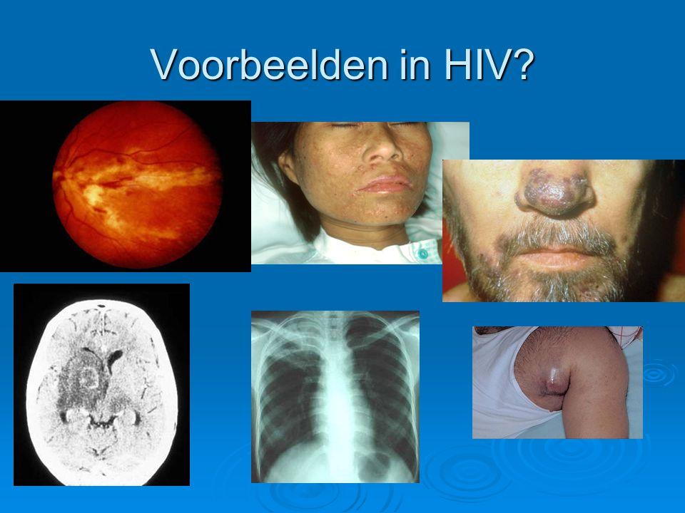 Voorbeelden in HIV?