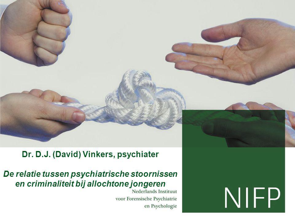 Dr. D.J. (David) Vinkers, psychiater De relatie tussen psychiatrische stoornissen en criminaliteit bij allochtone jongeren